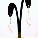 Cracked Marbel-black & white earring1