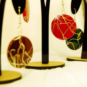 Gold and Silver splatter collection earrings