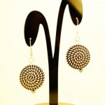 Twisted Elegance Collection earrings- white